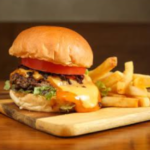 Cheddar Bacon Smashed Burger